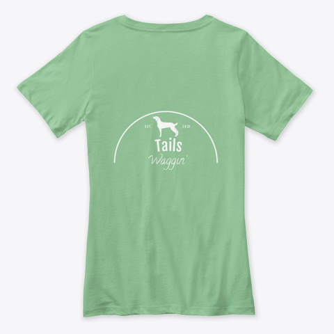 Waggin' Tails Leaf  T-Shirt Back