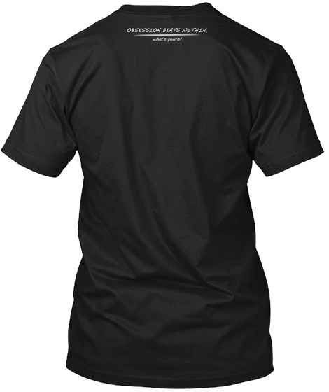 Camping Heartbeat Obsession Within Ekg  Black T-Shirt Back