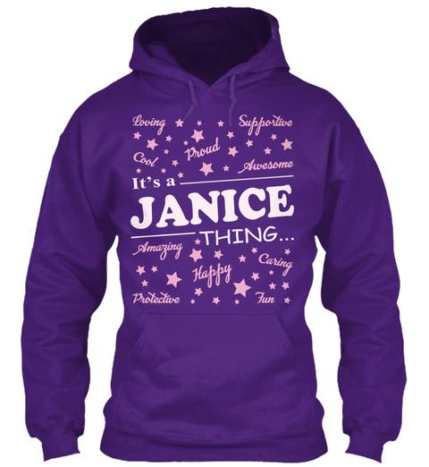 It's A  Janice Thing Purple Maglietta Front