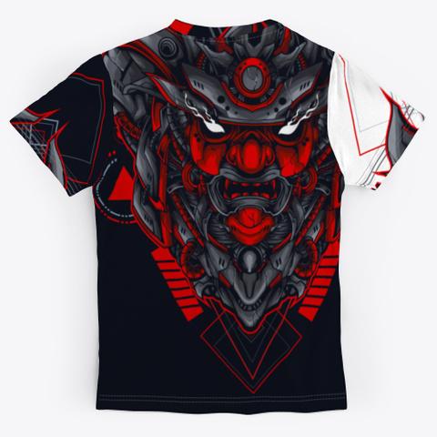 Traditional Japanese Samurai  Mask Standard T-Shirt Back