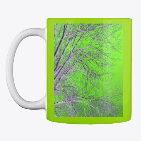 Neon Green Tree Lime Green T-Shirt Front