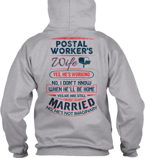 Cute Postal Worker's Lady Sport Grey T-Shirt Back