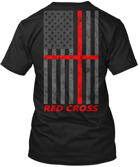 Red Cross Red Cross Black T-Shirt Back