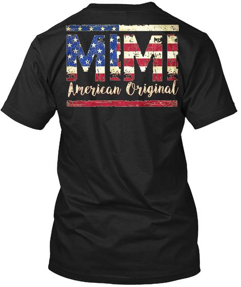 Mimi American Original Black T-Shirt Back