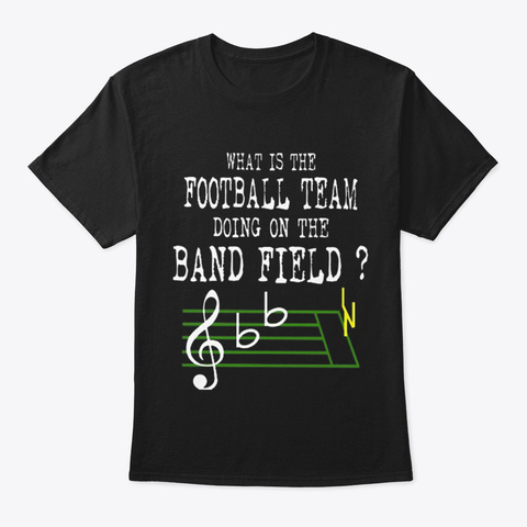Marching Band Lovers Black T-Shirt Front