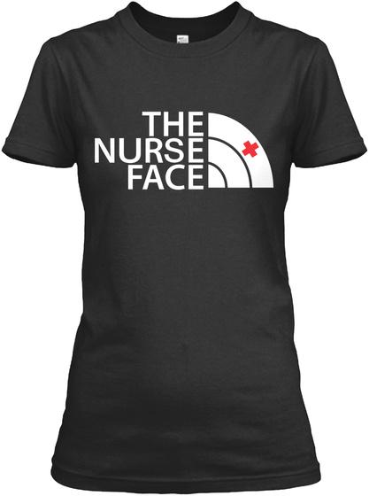 The Nurse Face Black T-Shirt Front