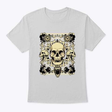 Gothic Skulls   Awesome Skull Lover Gift Light Steel T-Shirt Front