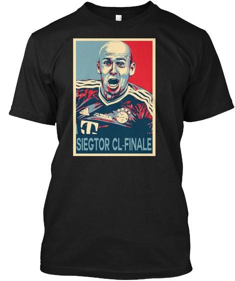 Robben Hope Poster Style Shirt    Black T-Shirt Front