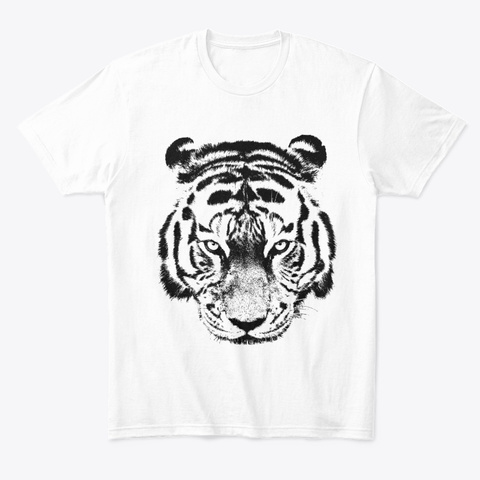 Tiger Ornaments White T-Shirt Front