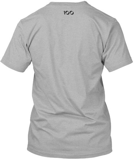 100 Athletic Heather T-Shirt Back