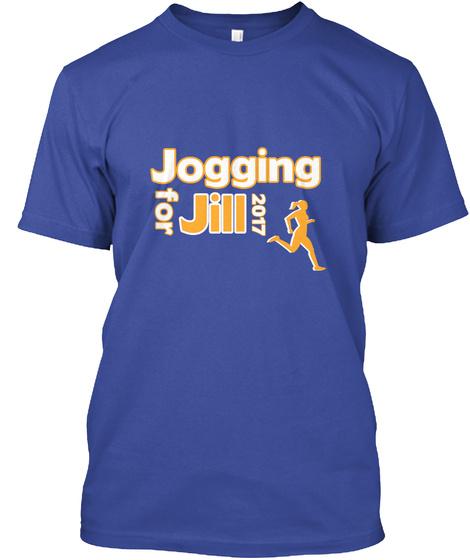 Jogging For Jill 2017 Deep Royal T-Shirt Front