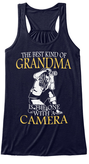The Best Kind Of Grandma Is The One With A Camera Midnight T-Shirt Front