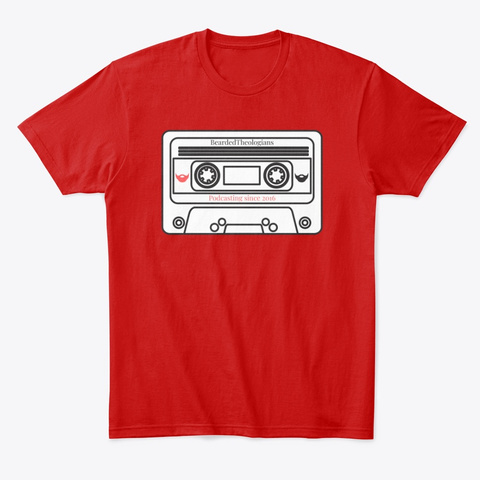 Bearded Theologians Mix Tape Classic Red T-Shirt Front