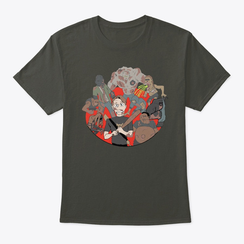 100 K Wsg Merch! Smoke Gray T-Shirt Front
