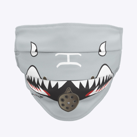 A 10 Warthog Mask Charcoal T-Shirt Front