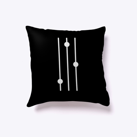 Indoor Pillow: Mixer Black T-Shirt Front