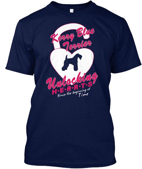 Kerry Blue Terrier Navy T-Shirt Front