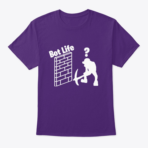 Bot Life Shirt Purple T-Shirt Front