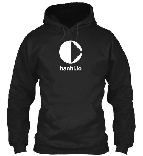 Hanhi.Io Black Sweatshirt Front