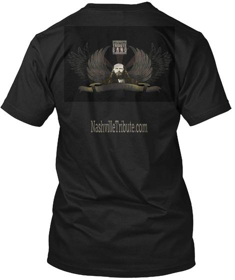 Nashiville Tribute.Com Black T-Shirt Back