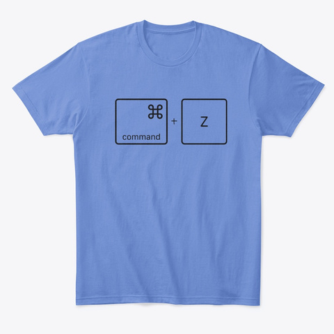 Command Z Heathered Royal  T-Shirt Front