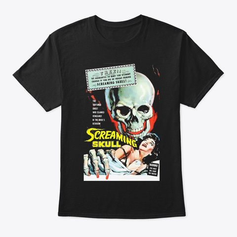 Screaming Skull Black T-Shirt Front