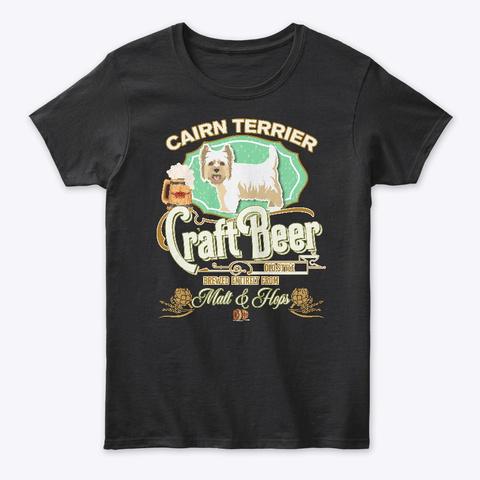 D Cairn Terrier Gifts Black T-Shirt Front