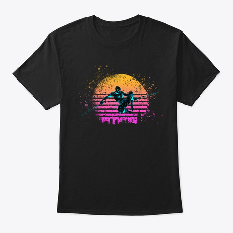 Out Run The Sun Black T-Shirt Front