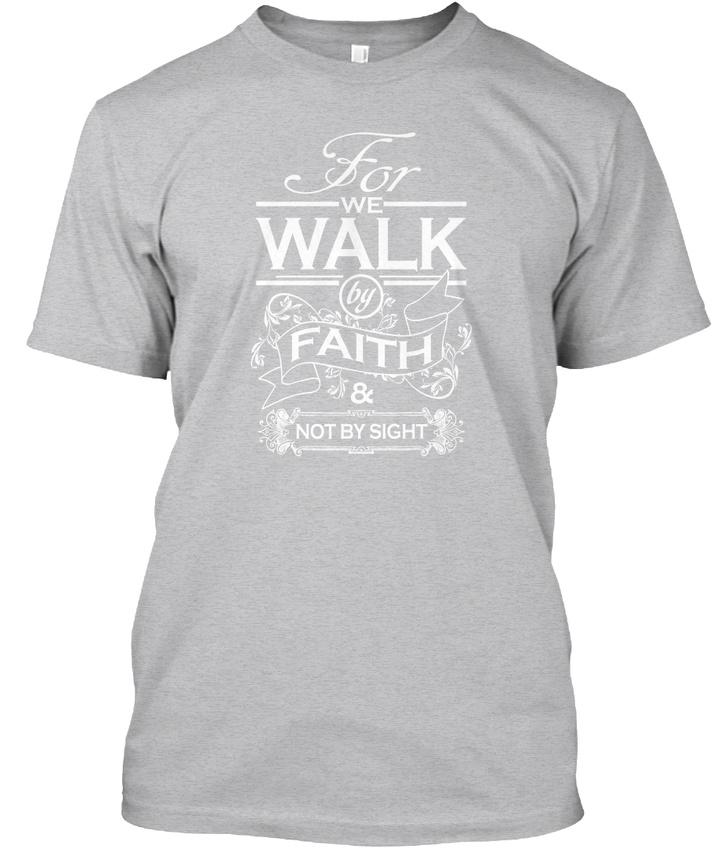 Trendy-Walk-By-Faith-For-We-amp-Not-Sight-T-shirt-T-shirt-Elegant-S-5XL