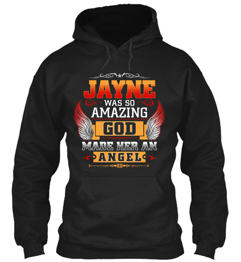 Jayne Angel  Black T-Shirt Front