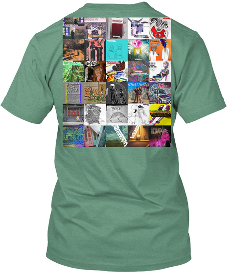 A Good Cup (Discography On Back) Green T-Shirt Back
