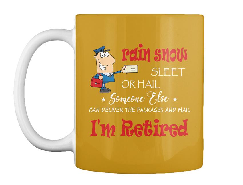 miniature 55 - Funny Retired Postal Worker Mailman Tee - Rain Suck Sleet Or Gift Coffee Mug