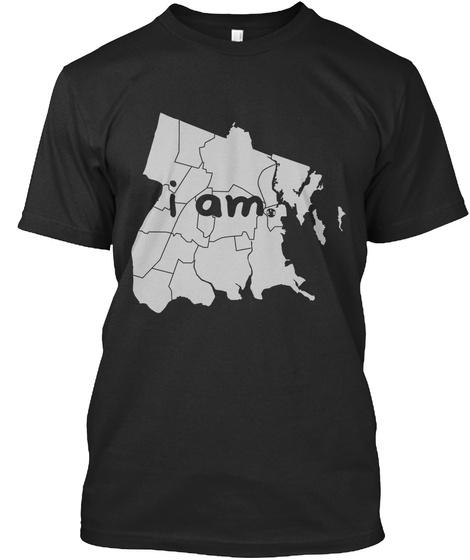 I Am Black Camiseta Front
