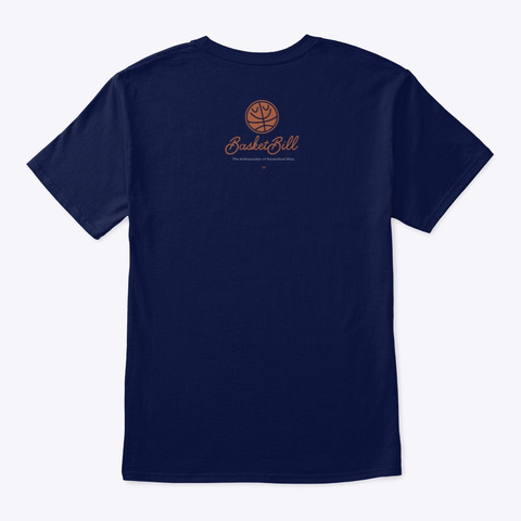 Basket Bill™ Cho Zen (Mp) Navy T-Shirt Back