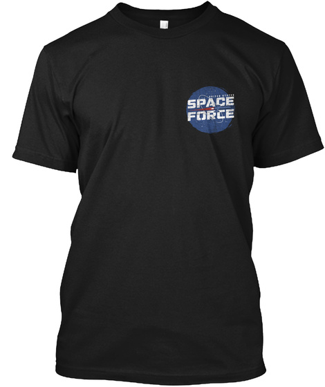 Space Force Black T-Shirt Front