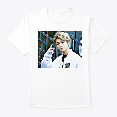 Kpop Stray Kids Felix Art White T-Shirt Front