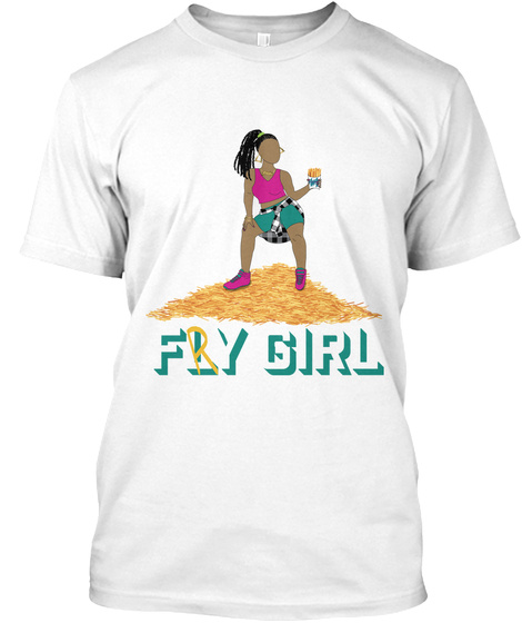 Fry Girl Tee White T-Shirt Front