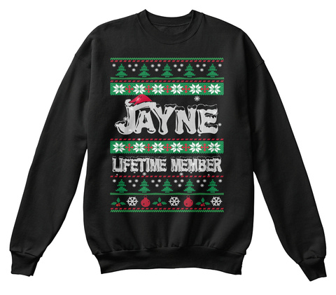Jayne Ugly Christmas Sweaters Black T-Shirt Front