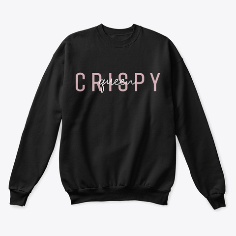 Crispy Queen Merch  Black T-Shirt Front