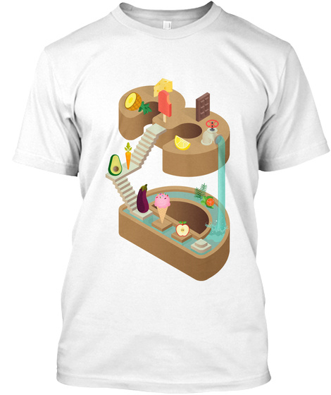 3 D Food Printing Is Fun! White T-Shirt Front