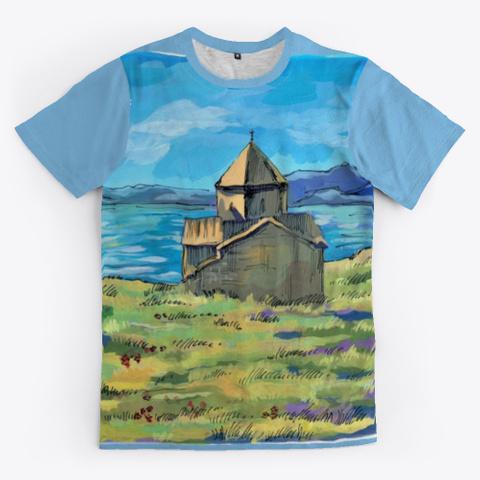 Armenia, Lake Sevan Light Blue T-Shirt Front