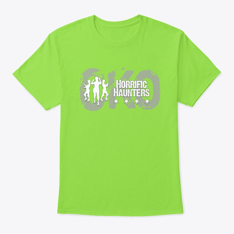 Cko Haunters Logo Lime T-Shirt Front