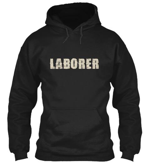 Laborer Black T-Shirt Front