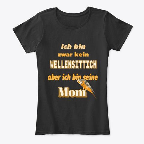 Stolze Wellensittich Mutter Black T-Shirt Front