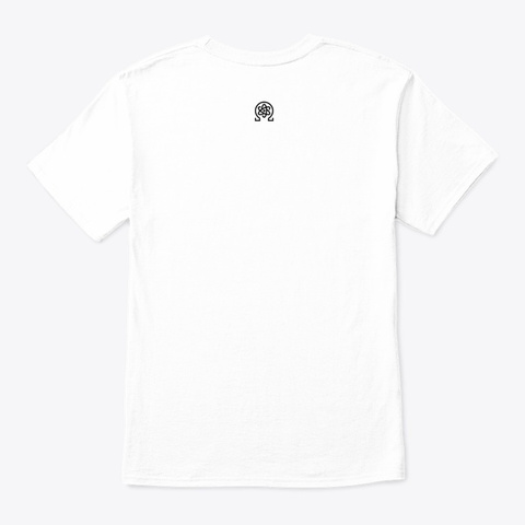 100% Premium Quanta White T-Shirt Back