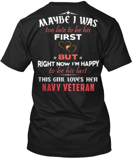 Veteran's Wife   Veteran's Girlfriend  Black T-Shirt Back