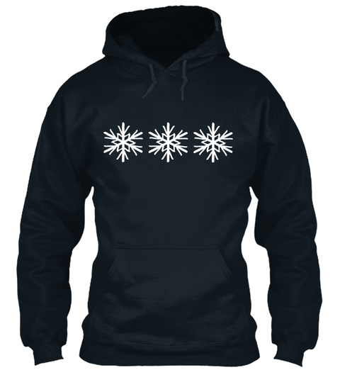Snowflakes French Navy Sweatshirt Front