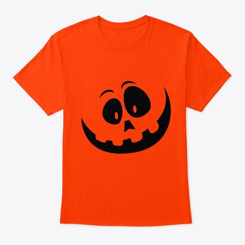 Jack O' Lantern Pumpkin Halloween Orange T-Shirt Front