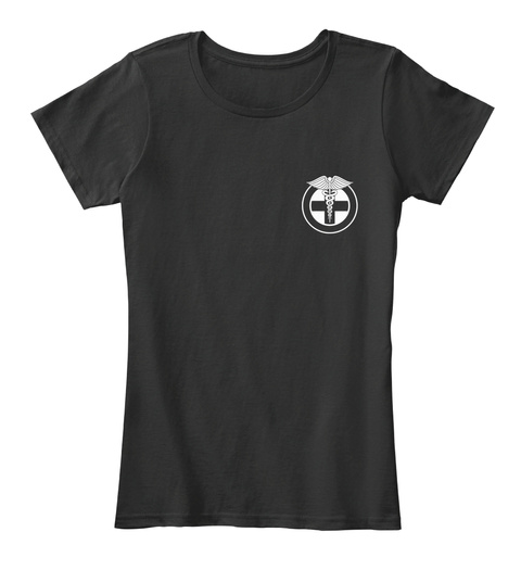 Nurses Like It Harder Black Women's T-Shirt Front