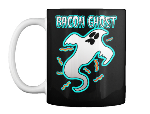 Bacon Ghost Black T-Shirt Front